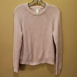 H&M Basic Light Pink Crew Neck Sweater